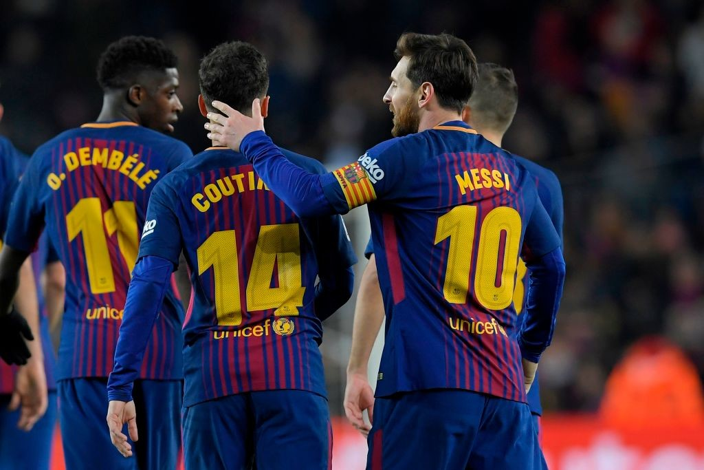 Dembele and Coutinho boosts Barca