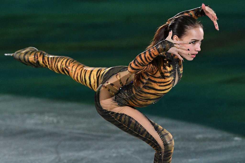 Russia's Alina Zagitova performs during the figure skating gala event during the Pyeongchang 2018 Winter Olympic Games at the Gangneung Oval in Gangneung on February 25, 2018. / AFP PHOTO / Mladen ANTONOV (Photo credit should read MLADEN ANTONOV/AFP/Getty Images)