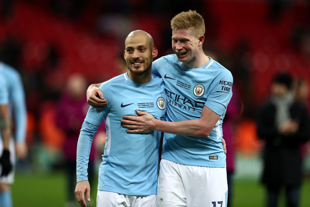 David Silva got the third goal for City in the finals.
