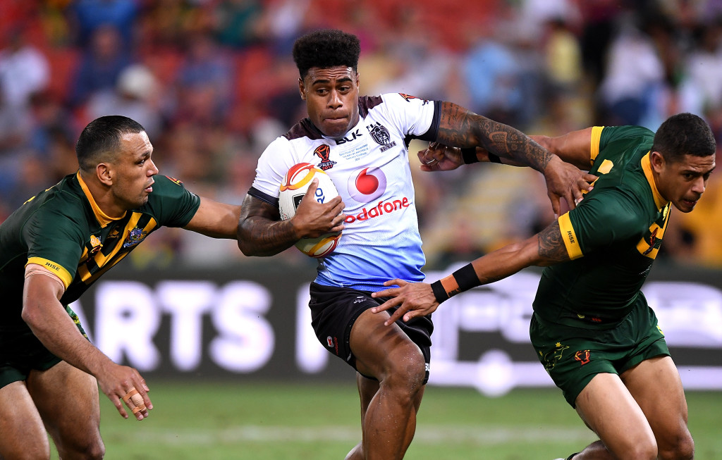 Kevin Naiqama in action against Australia