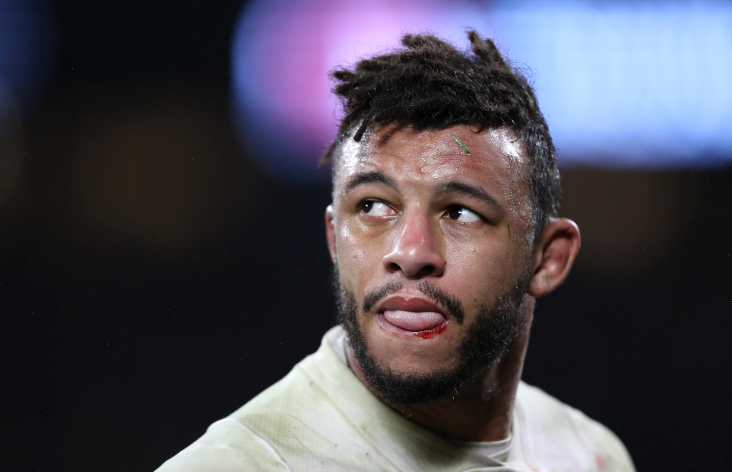LONDON, ENGLAND - FEBRUARY 10: Courtney Lawes of England looks on during the NatWest Six Nations round two match between England and Wales at Twickenham Stadium on February 10, 2018 in London, England. (Photo by Mark Thompson/Getty Images)