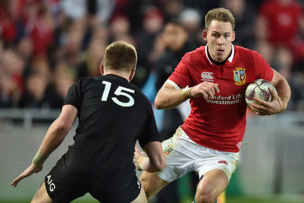 Liam Williams in action for the British & Irish Lions last year.