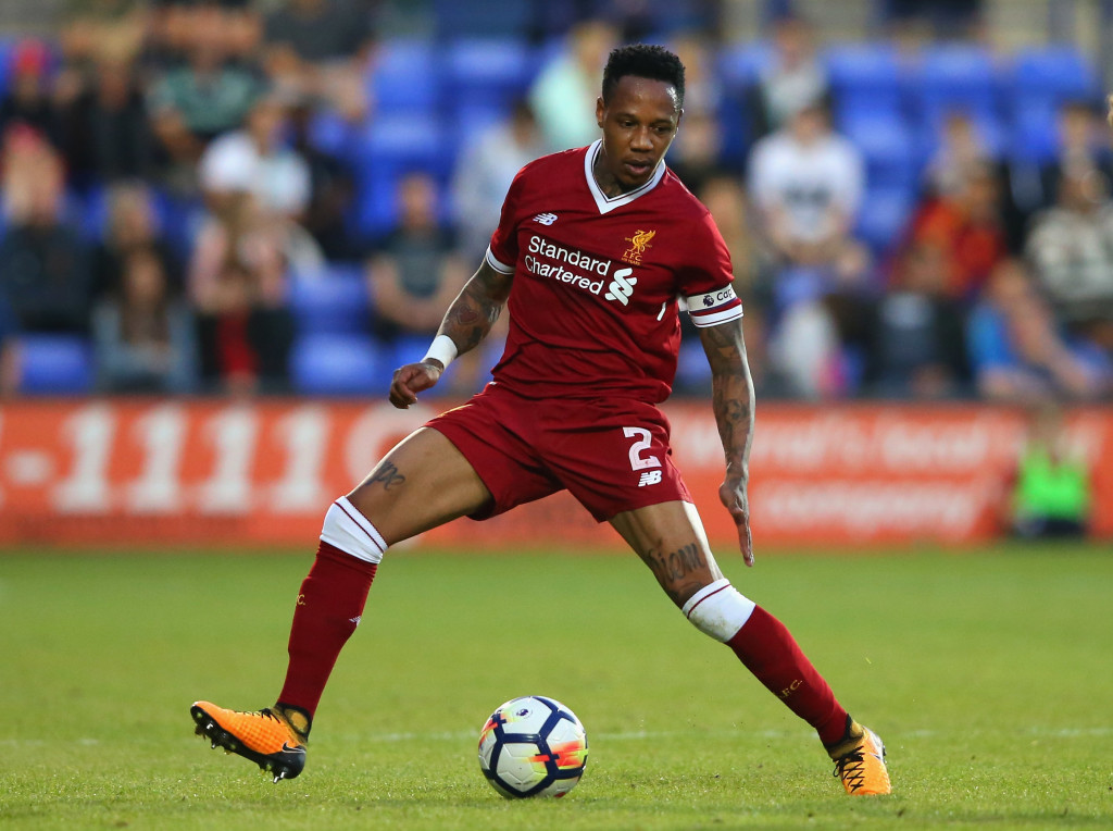 BIRKENHEAD, ENGLAND - JULY 12: Nathaniel Clyne of Liverpool during a pre-season friendly match between Tranmere Rovers and Liverpool at Prenton Park on July 12, 2017 in Birkenhead, England. (Photo by Alex Livesey/Getty Images)