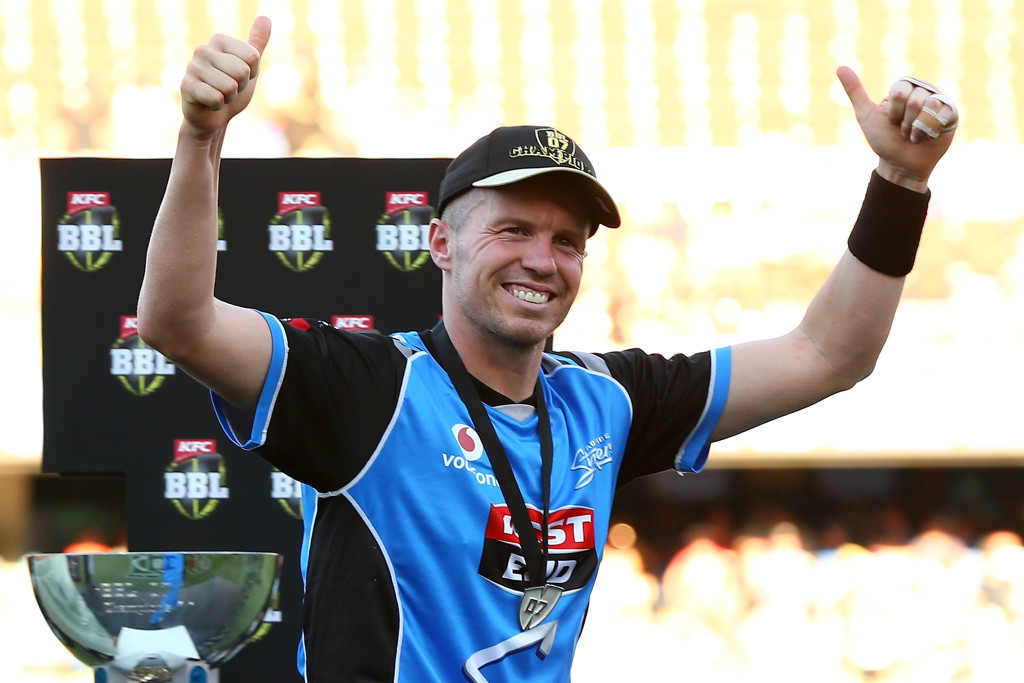Peter Siddle with his winners middle