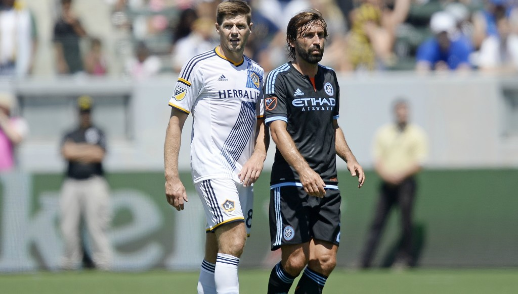 European football greats Steven Gerrard and Andrea Pirlo both plied their trade Stateside.