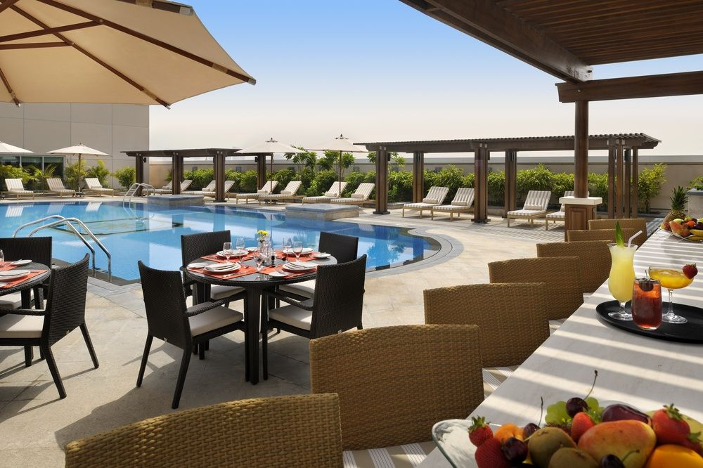 Relax at the pool after your workout or treatment