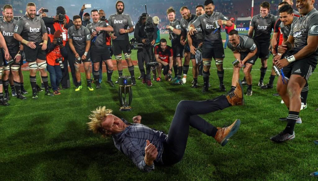 Scott Robertson was almost break-dancing in Wales