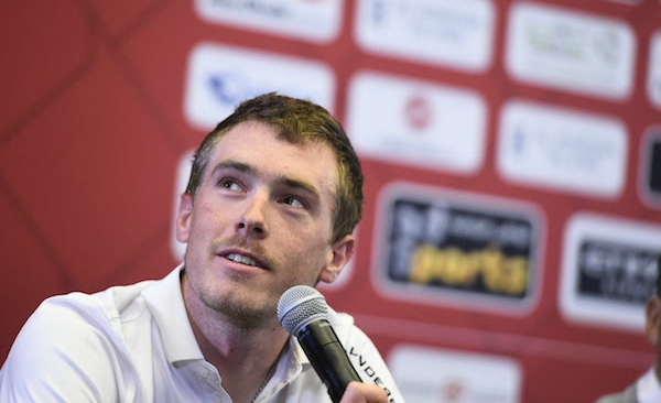 From Australia to Abu Dhabi: Rohan Dennis at Tuesday's press conference.