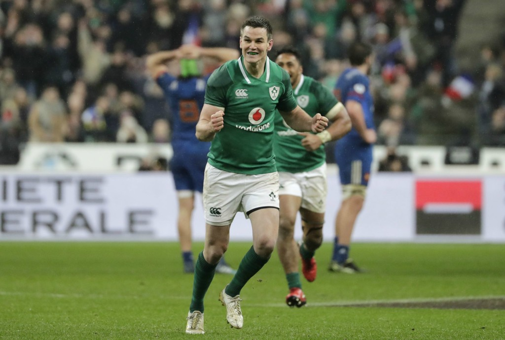 Jonny Sexton's last-gasp drop goal in Paris sealed what looked to be an unlikely win for Ireland.
