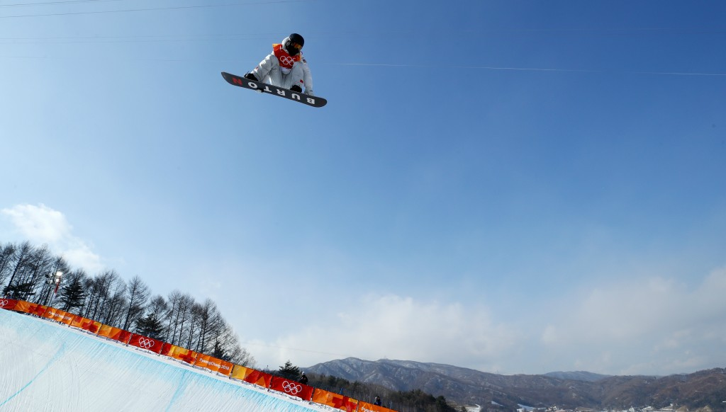 Made of the White stuff: Shaun White on his way to gold.