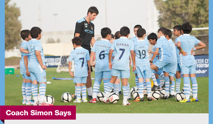 Simon Hewitt during one of the City Football School training sessions