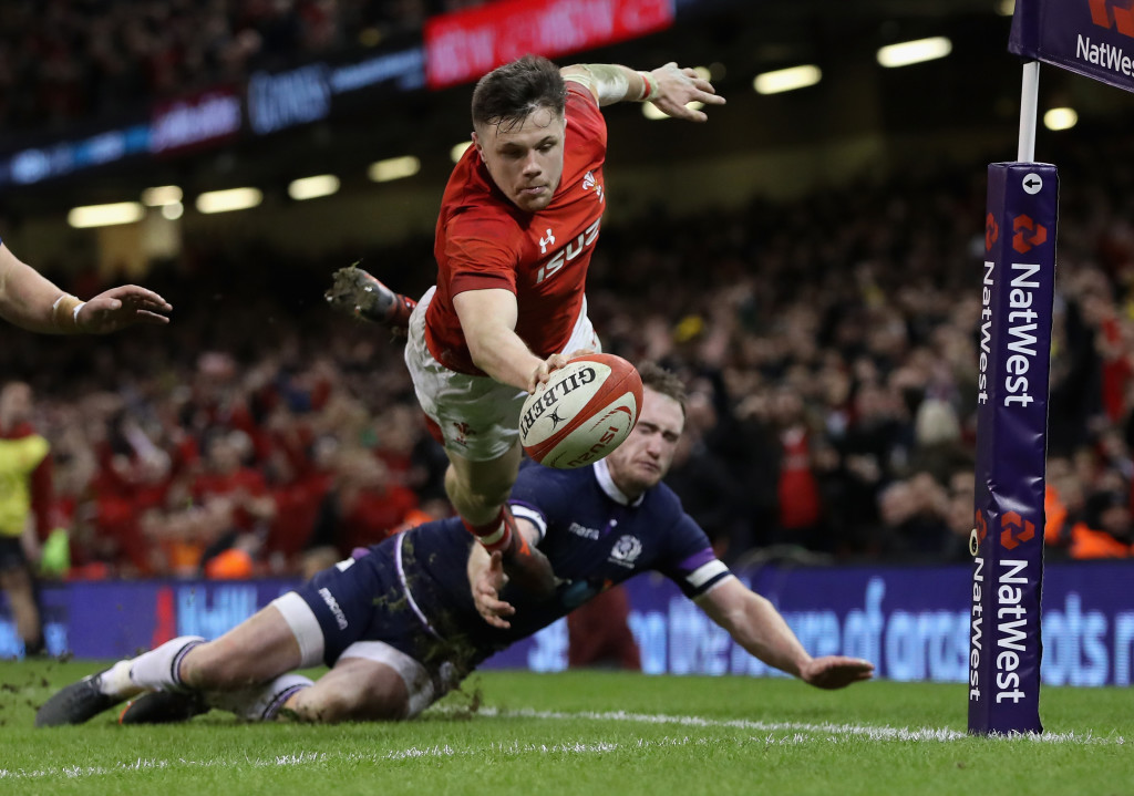 Wales winger Steff Evans finished his try superbly