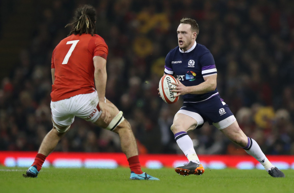 Scottish danger man Stuart Hogg was well contained by the Wales defence