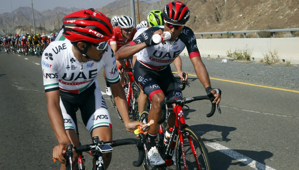 Yousif Mirza (l) and Anass Ait El Abdia during Stage 5.