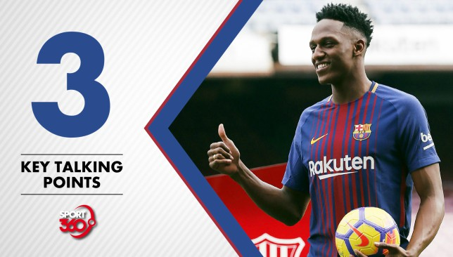 Yerry mina to make barcelona debut and more talking points ahead of yerry mina to make barcelona debut and more talking points ahead of valencia copa del rey clash article sport360 stopboris Choice Image