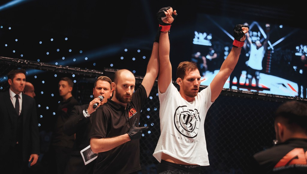Winner: Britain's Luke Barnatt