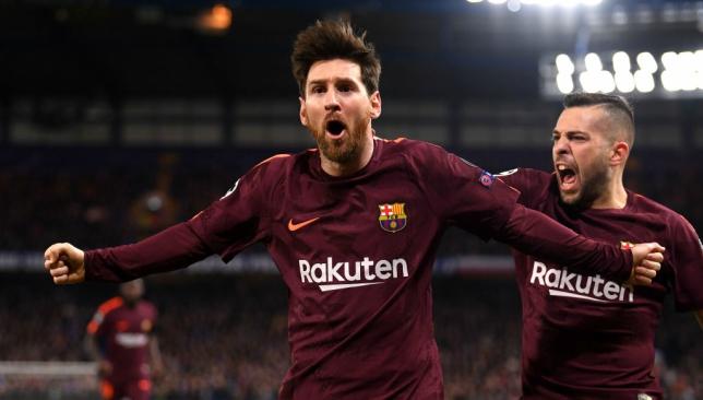 Messi finally scores against Chelsea (cartoon)