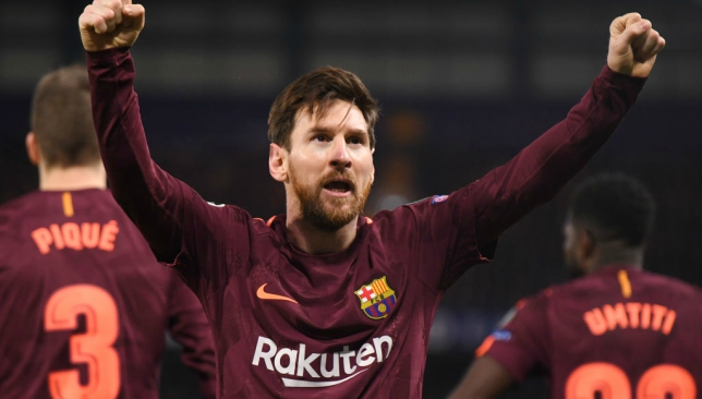 Messi meets Fabregas after Chelsea vs Barcelona Champions League Match