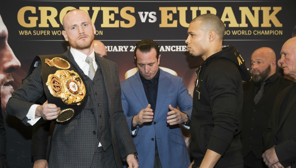Rivals: WBA champ George Groves and IBO king Chris Eubank Jr