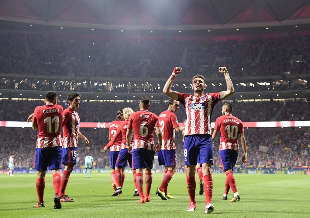 A fast start saw Saul give Atlético the lead against Barca in October.