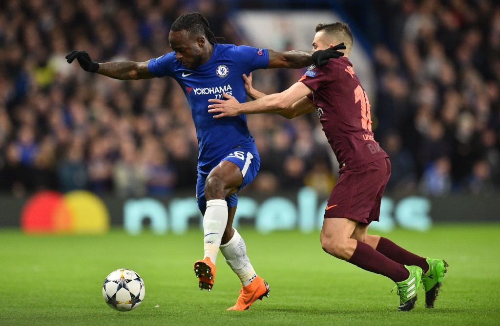 Victor Moses starred in Chelsea's draw against Barcelona.