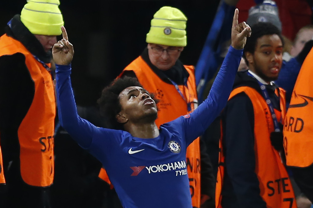 Willian punished Barcelona on the counter in the first leg.