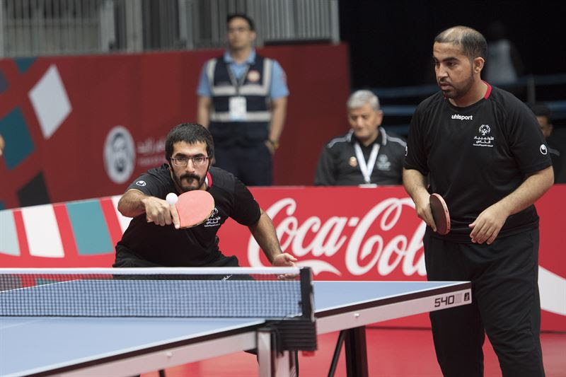 Emirati duo Khaled Al Shahi and Nawaf Al Kaabi.