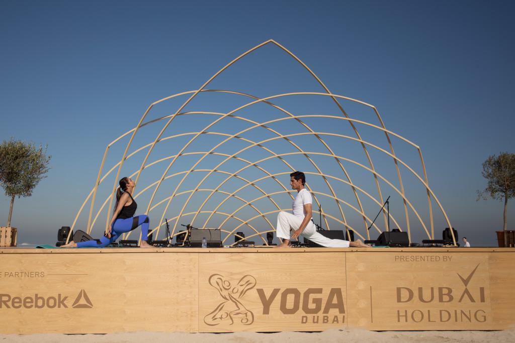 1 Malaika Arora and Yogi Cameron open XYoga Dubai