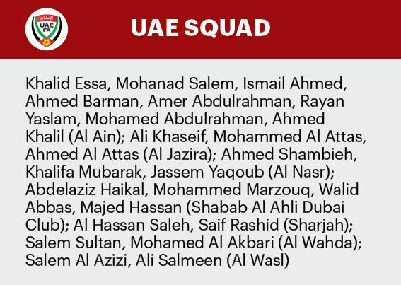 14 03 UAE SQUAD