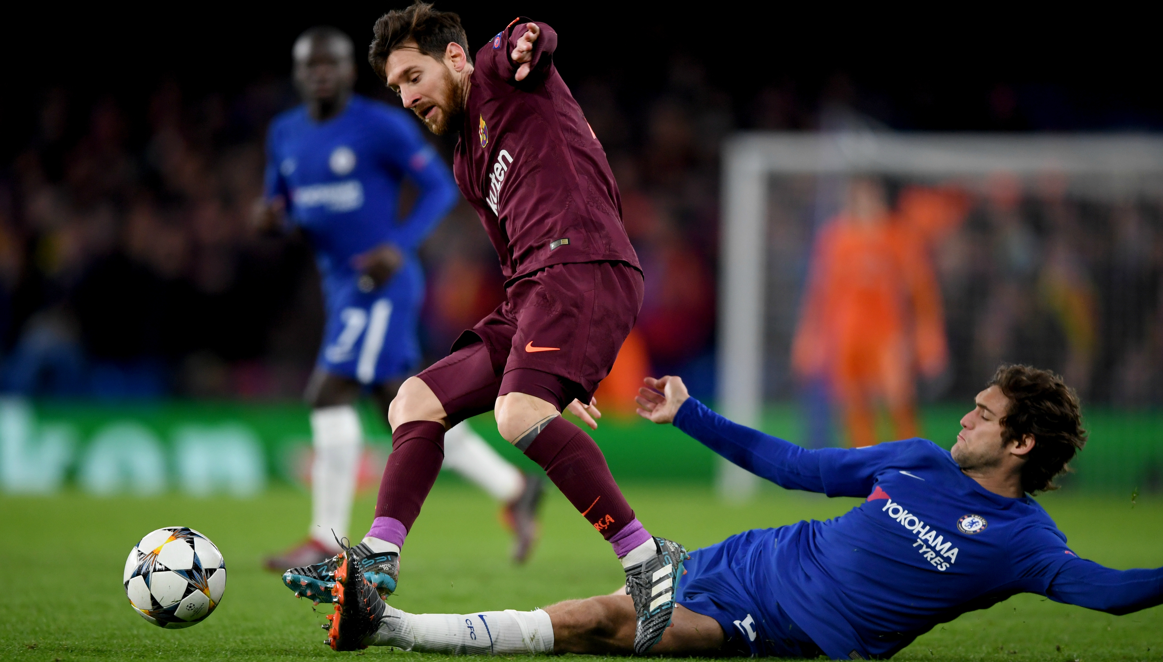 Image result for marcos alonso and messi