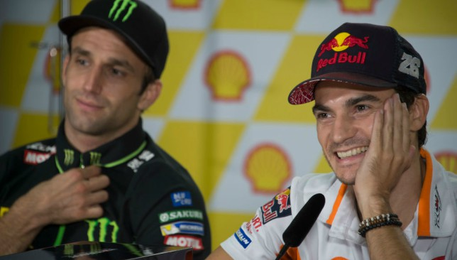 Experienced: Dani Pedrosa (right)