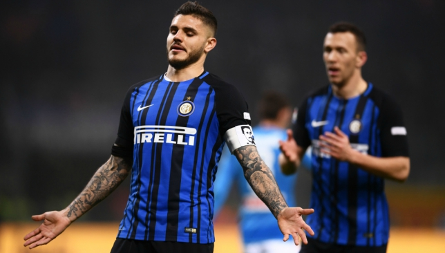 Napoli cut Juventus lead, Icardi scores four in Inter rout