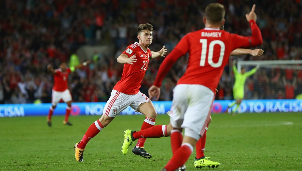 Ben Woodburn lights up Cardiff with the winning goal against Austria in September.