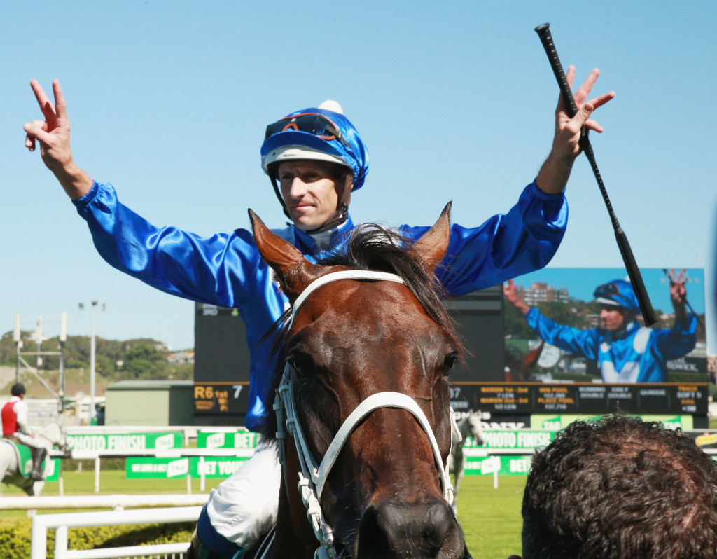 SYDNEY, AUSTRALIA - MARCH 03: Hugh Bowman returns to scale on Winx after winning race 6 The Chipping Norton Stakes during Sydney Racing at Royal Randwick Racecourse on March 3, 2018 in Sydney, Australia. (Photo by Mark Evans/Getty Images)