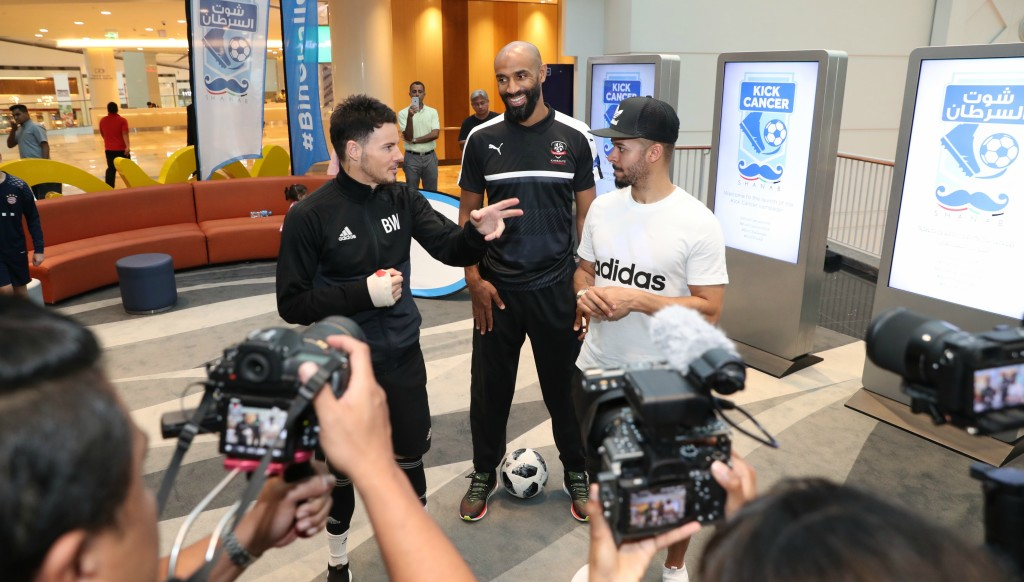 Taking the challenge: Freddy Kanoute