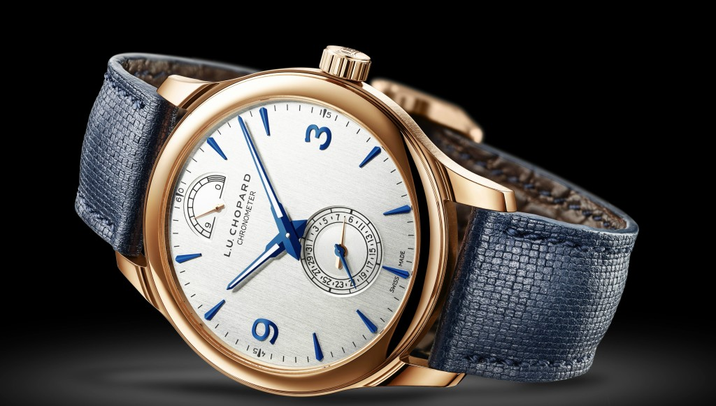 Limited: The 18-carat rose gold wrist clock