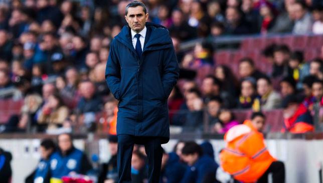 Ernesto Valverde of FC Barcelona 1