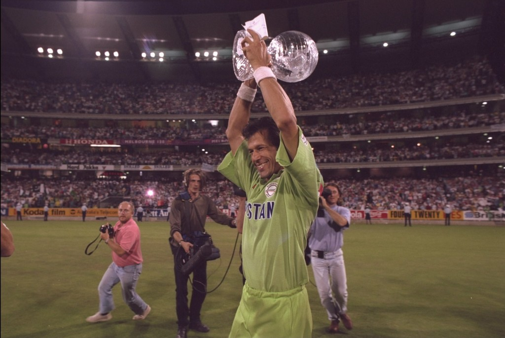 Imran Khan had famously led Pakistan to the1992 World Cup crown.