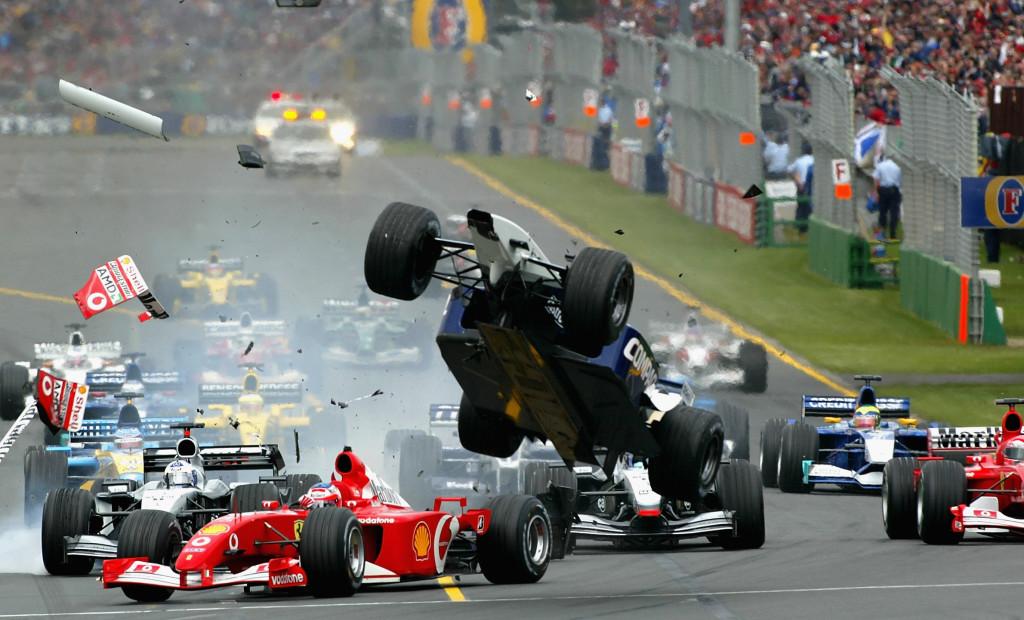 Ralf Schumacher gets airborne