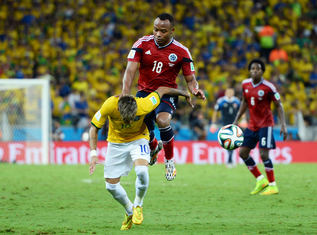 Neymar missed the semi-final against Germany after getting injured against Colombia