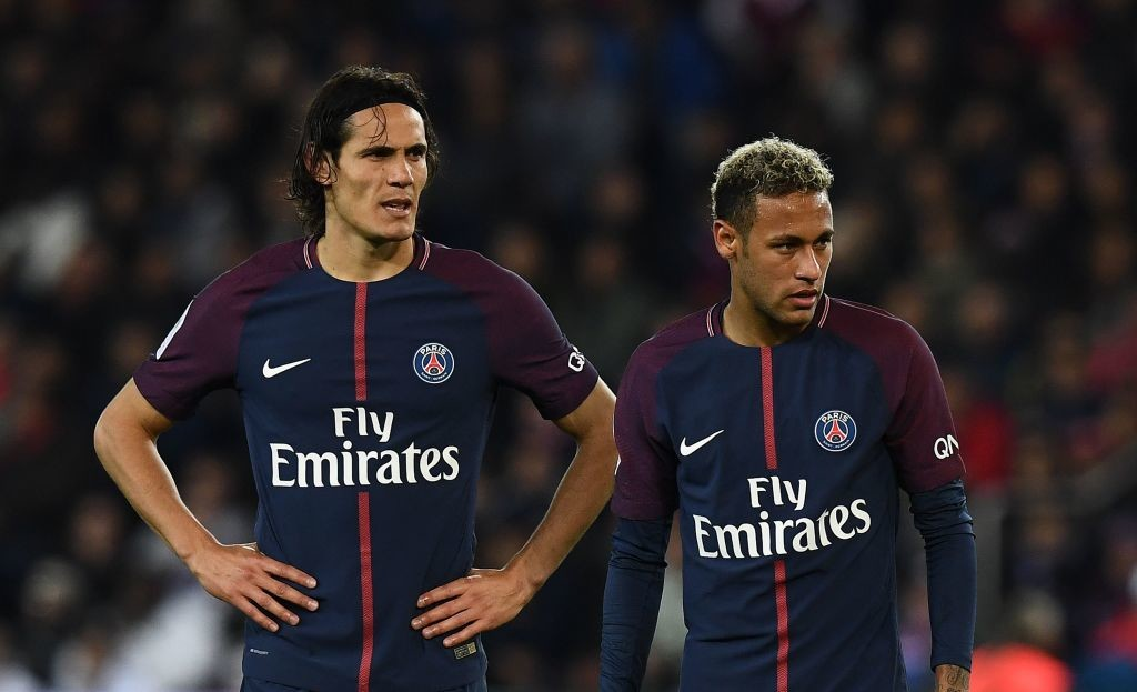 Big names, big egos: Cavani (l) and Neymar