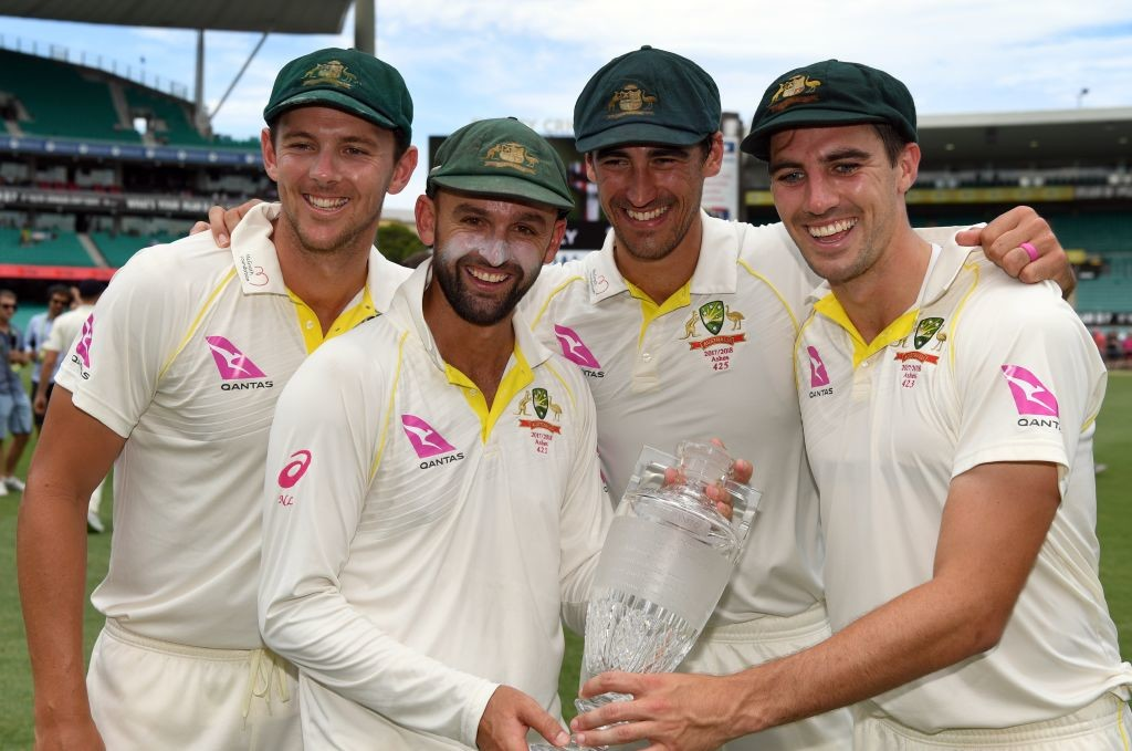 Australia have won all five Test the 'Fab Four' has played together.