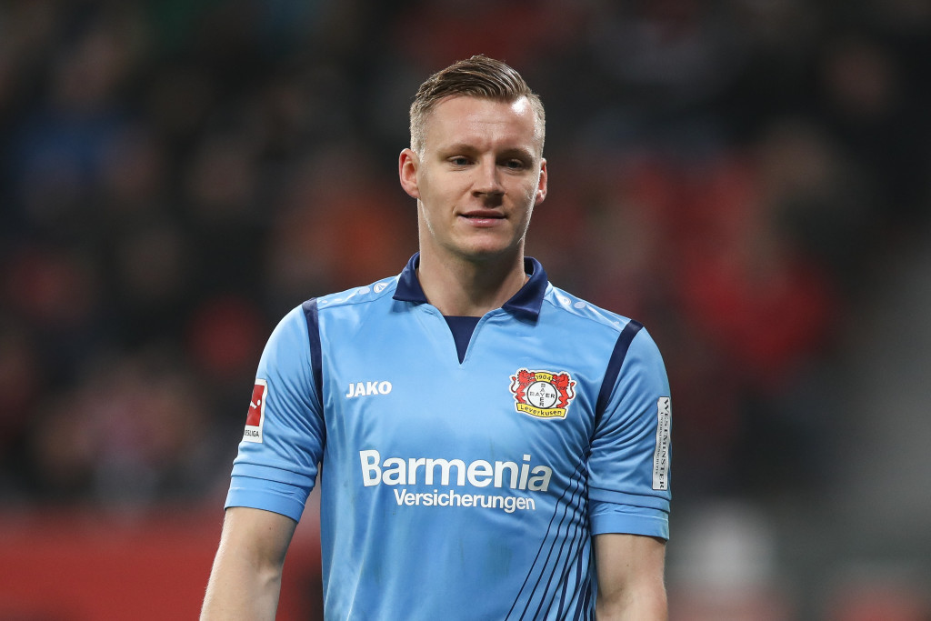 LEVERKUSEN, GERMANY - JANUARY 12: Bernd Leno #1 of Bayer Leverkusen looks on during the Bundesliga match between Bayer 04 Leverkusen and FC Bayern Muenchen at BayArena on January 12, 2018 in Leverkusen, Germany. (Photo by Maja Hitij/Bongarts/Getty Images)