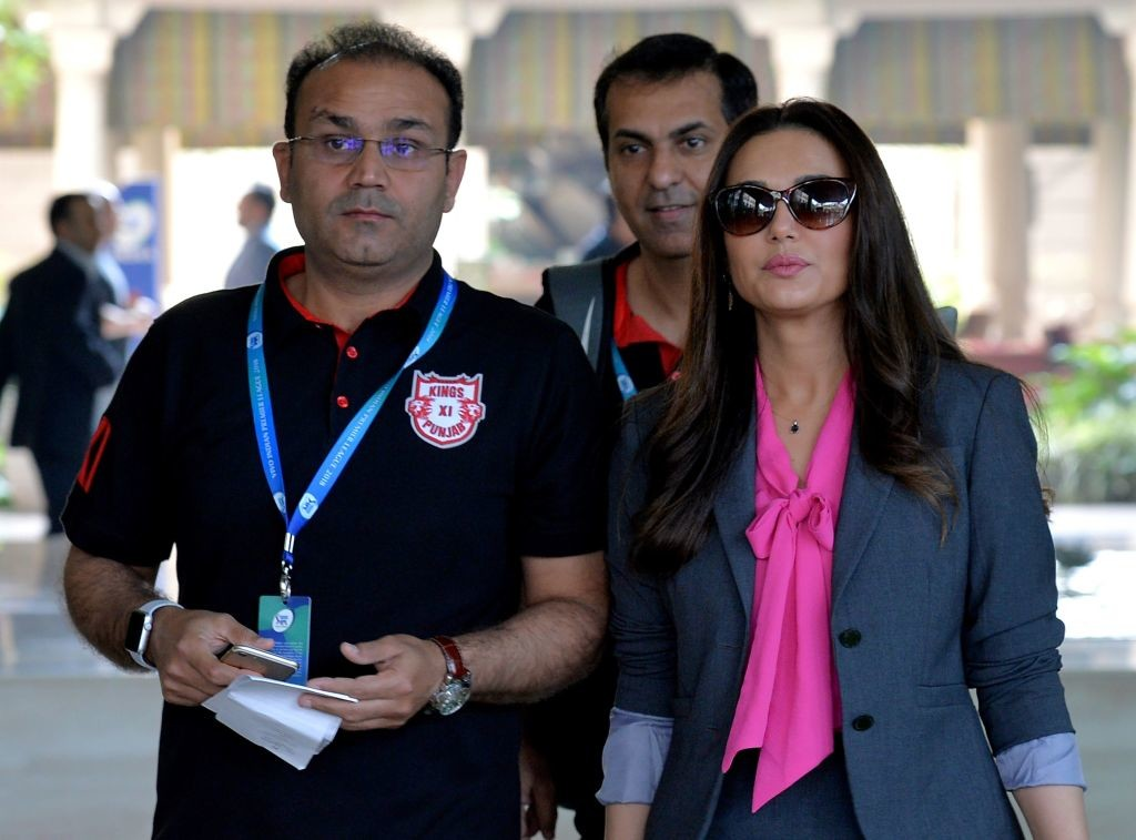 Sehwag has been busy with the Kings XI's preparations for the IPL currently.