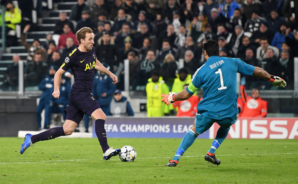 Harry Kane scored in the first leg against Juventus