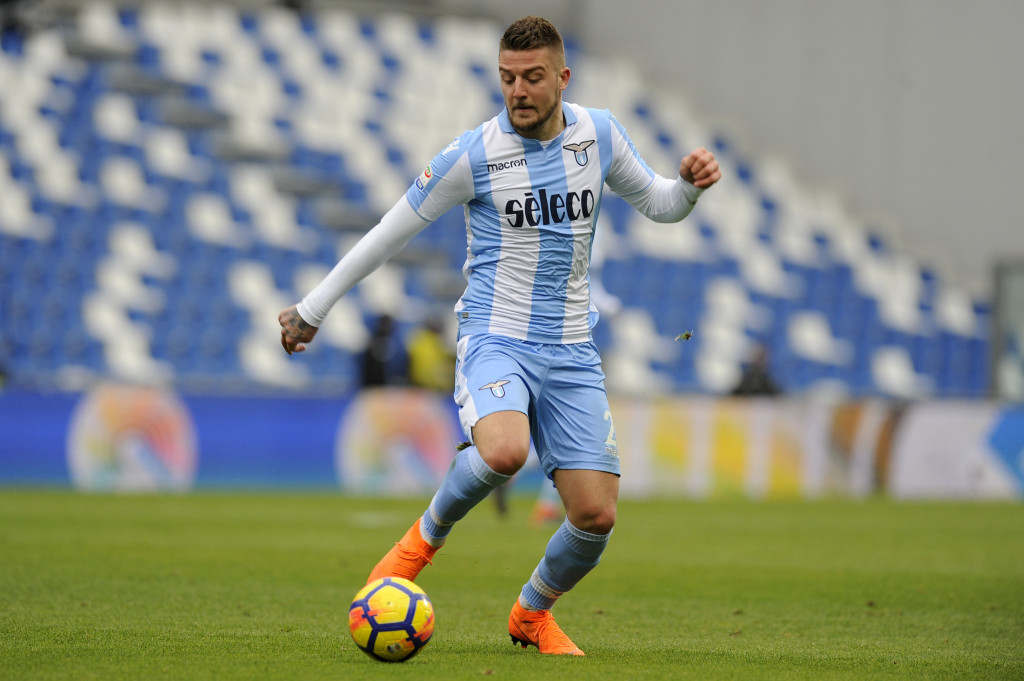 REGGIO NELL'EMILIA, ITALY - FEBRUARY 25: Sergej Milinkovic Savic of SS Lazio in action during the serie A match between US Sassuolo and SS Lazio at Mapei Stadium - Citta' del Tricolore on February 25, 2018 in Reggio nell'Emilia, Italy. (Photo by Marco Rosi/Getty Images)
