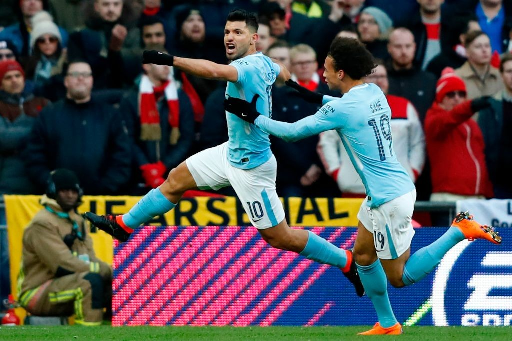 Aguero has been in lethal goal-scoring form this season.
