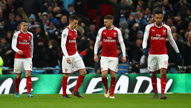 Leaking goals: Arsenal have been poor at the back