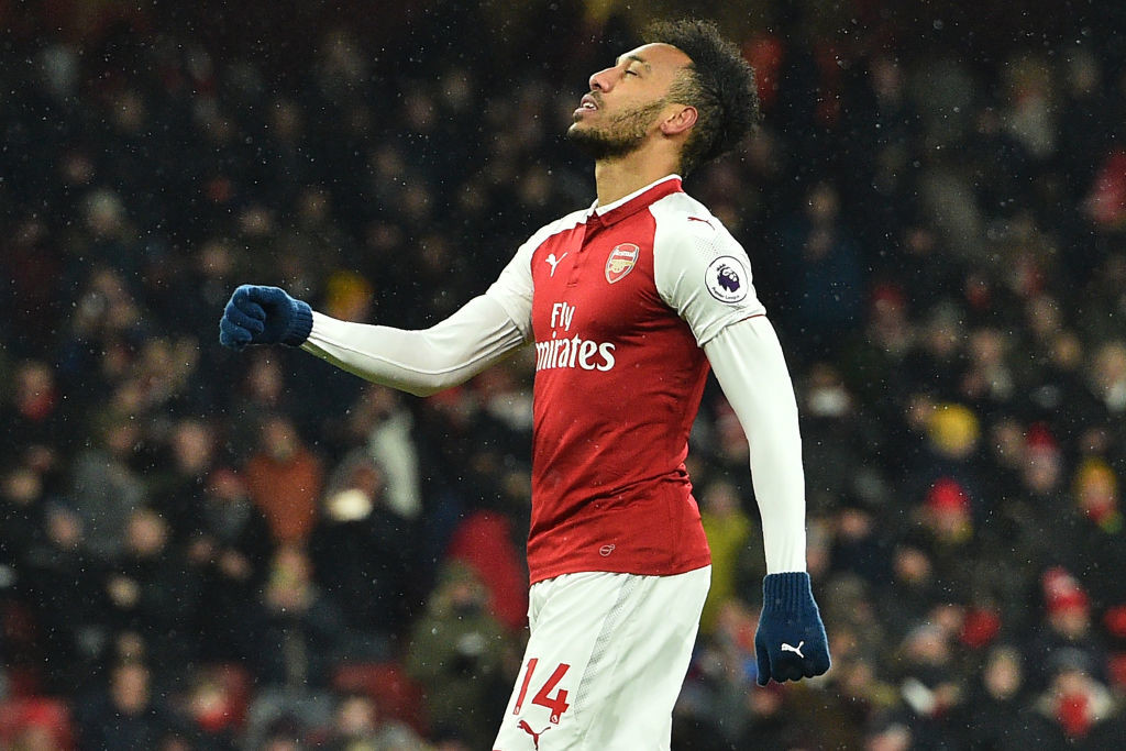 Aubameyang looks likely to retain his place due to being cup-tied in Europe.