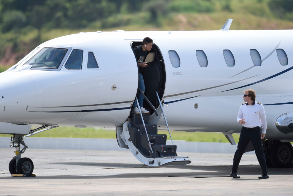 Neymar flew back to Brazil for his operation.